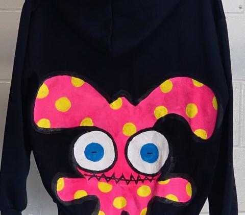 Custom Hoodie Front- Pink