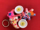 Keychain - Pink Orange
