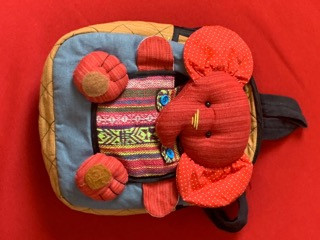 Backpack - Red Elephant
