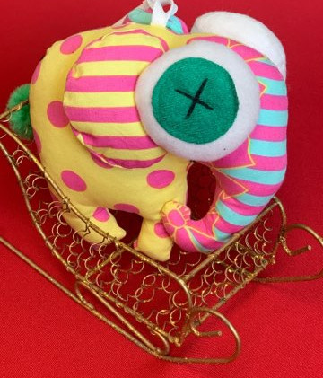Stuffie- Pink Yellow Elephant