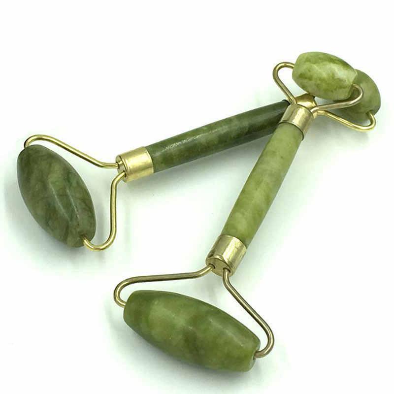 ROLLER do masażu twarzy jadeitowy