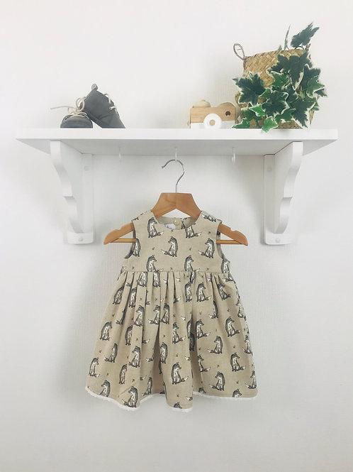 Rose Dress - Linen Winter Fox