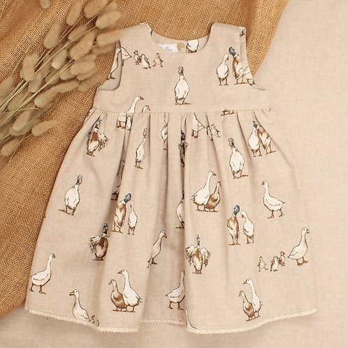 Linen Look Duck Dress