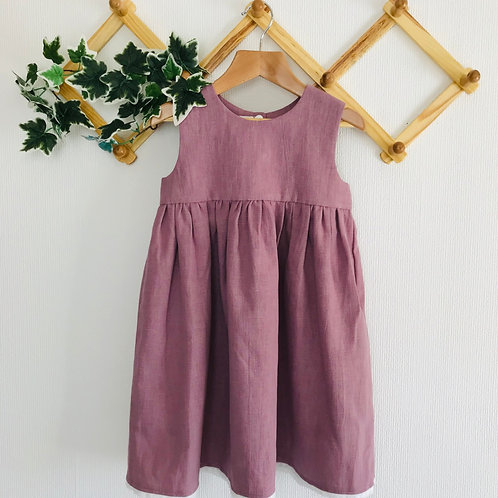 Rose Dress - Lavender Linen