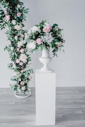 Blush Faux Ceremony Florals