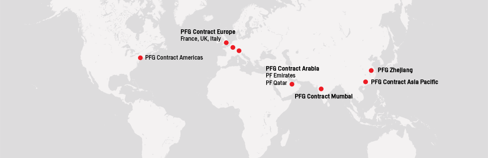Poltrona Frau Group (PFG) is conveniently accessible anywhere in the world.