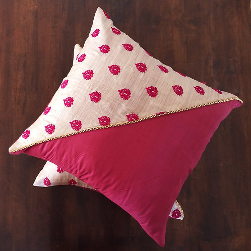 Festive Silk Cushion Cover - Set of 2