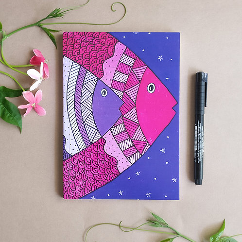 Fish Notebook with plain white sheets