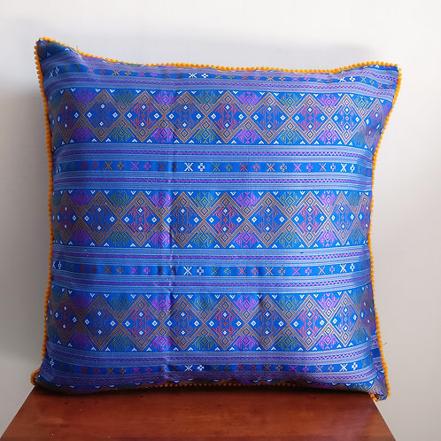 Blue Woven Cushion Cover - Set of 2