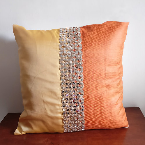 Sunshine Ethnic Silk Cushion Cover - Set of 2