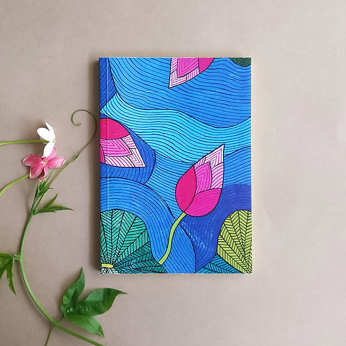 Lotus Notebook with plain fluorescent sheets