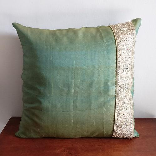 Mint Glitter Silk Cushion Cover - Set of 2