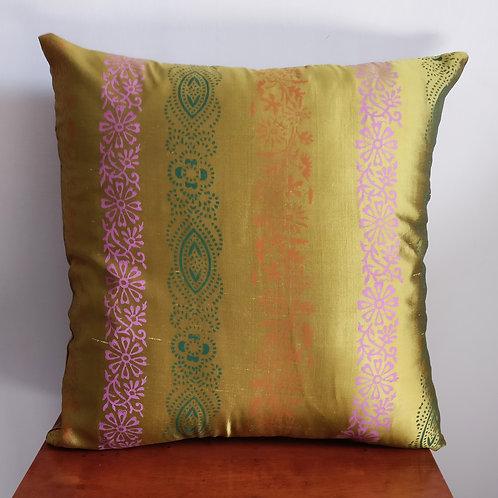 Gilt Boho Silk Cushion Cover - Set of 2