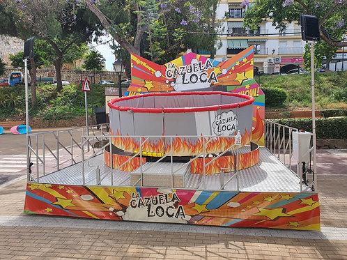 """Atracción de Feria """"La Olla"""" o """"Cazuela Loca"""""""