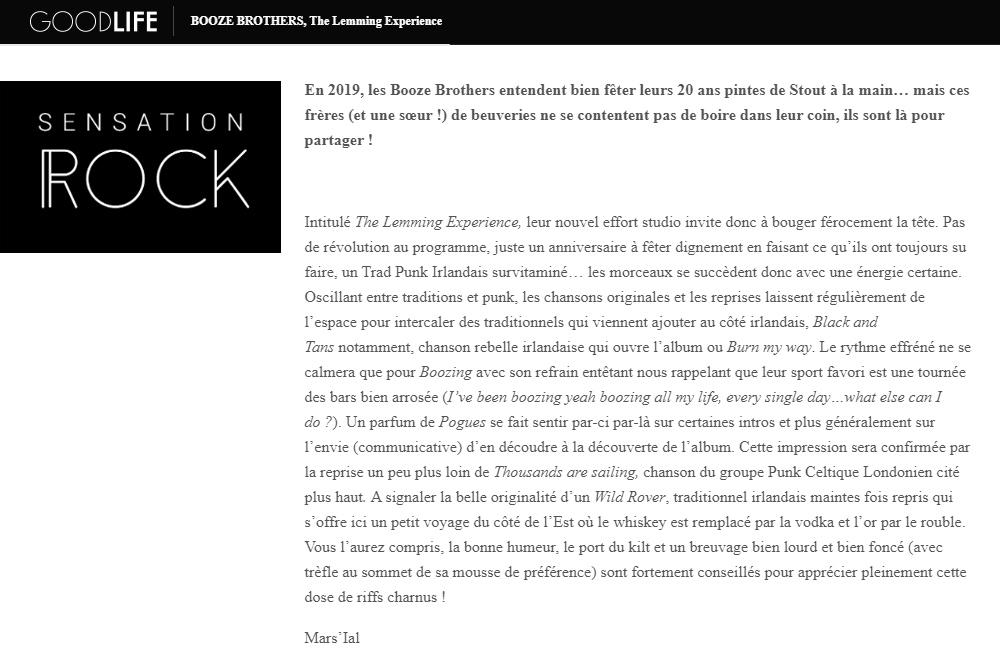 SENSATION ROCK