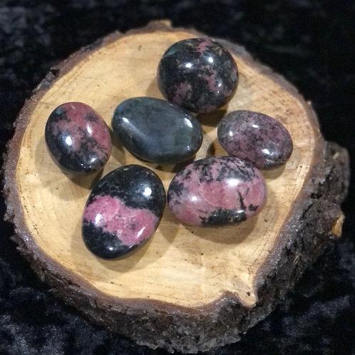 Rhodonite Palm Stone