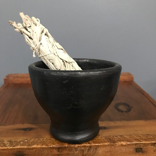 Clay Burner Smudge Bowl and Sage