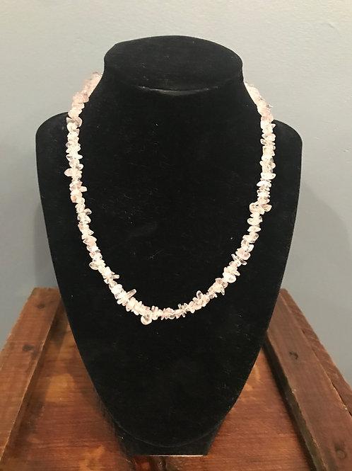 Rose Quartz Chipped Necklace