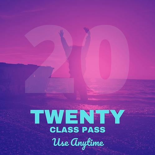 Twenty (20) Class Pass