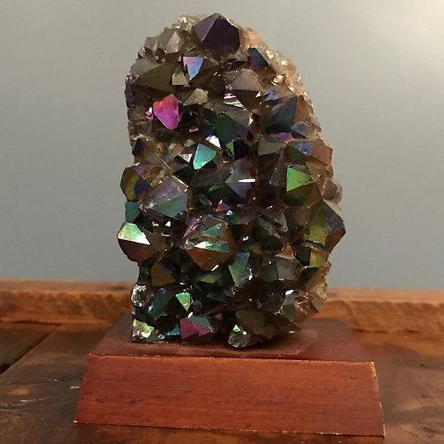 Titanium Aura Amethyst Cluster