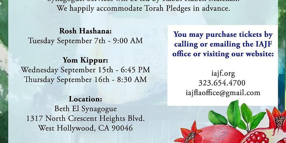 High Holidays at IAJF