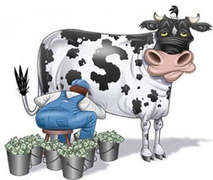 корова доющаяся биткоинами.jpg