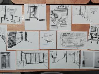 Toby Morison Workshop + Brookwood Cemetery Drawings