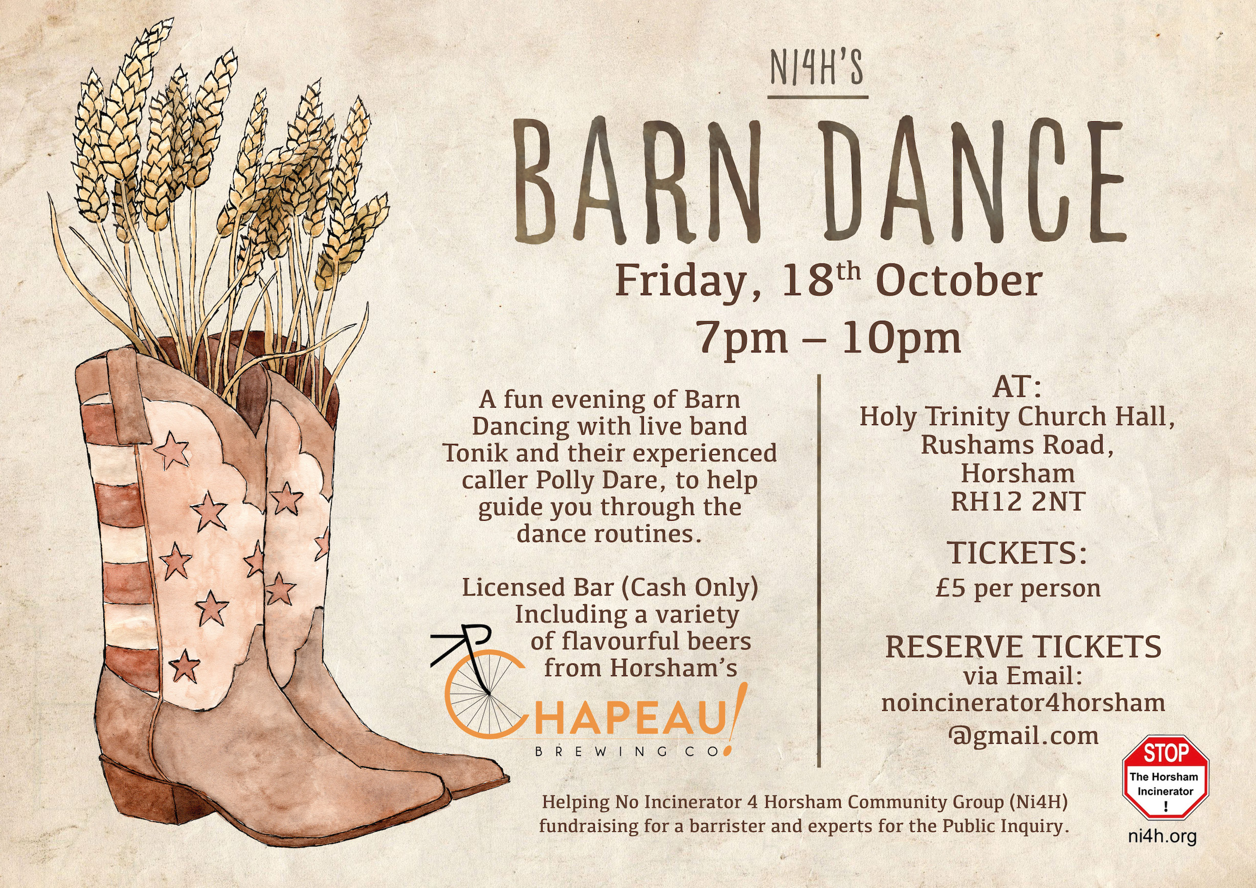 Barn Dance - Landscape Event Poster