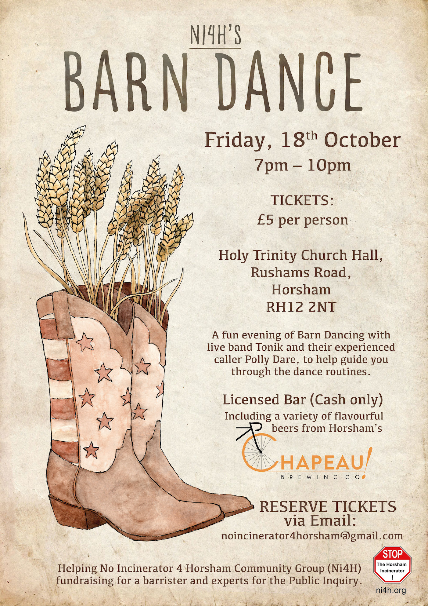 Barn Dance - Portrait Events Poster