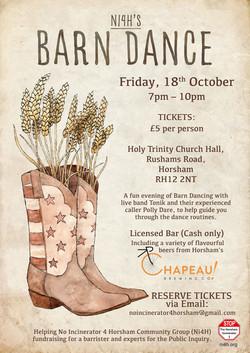 Barn Dance - Portrait Events Poster
