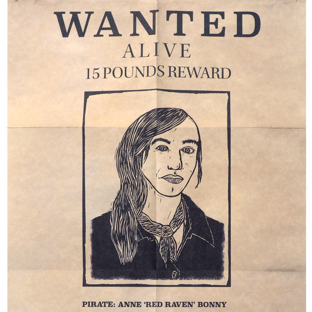 1700's pirate wanted poster
