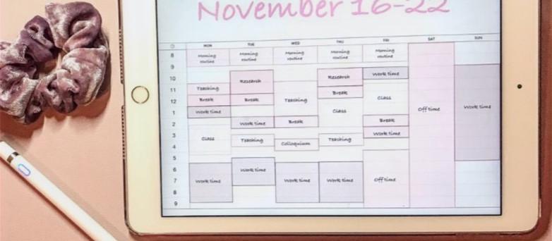 Calendar Blocking In a Ph.D.