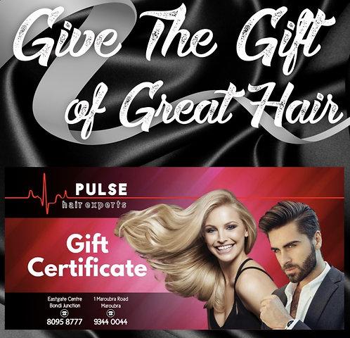GIFT VOUCHER Pulse Hair $60 Value