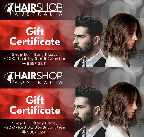 GIFT VOUCHER Hairshop $80 Value