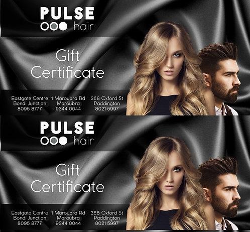GIFT VOUCHER Pulse Hair $80 Value