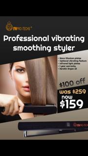 Pro-Techs Keratin Vibrating Smoothing Styler