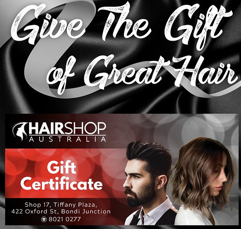 GIFT VOUCHER Hairshop $100 Value