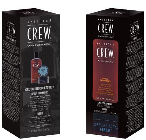 American Crew Gift Pack- Daily Shampoo 250ml + Fiber Paste 85g