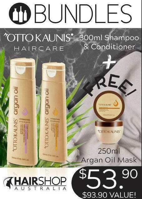 BUNDLES OTTO KAUNIS- Shampoo 300ml + Conditioner 300ml + FREE Mask 250ml