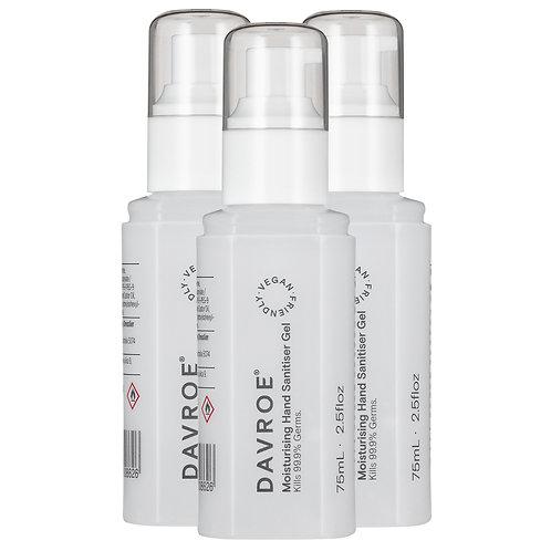 Davroe Hand Sanitizer 75ml x 3