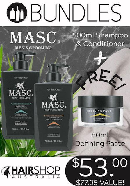 BUNDLES MASC.- Shampoo 500ml + Conditioner 500ml + FREE  Paste 80g