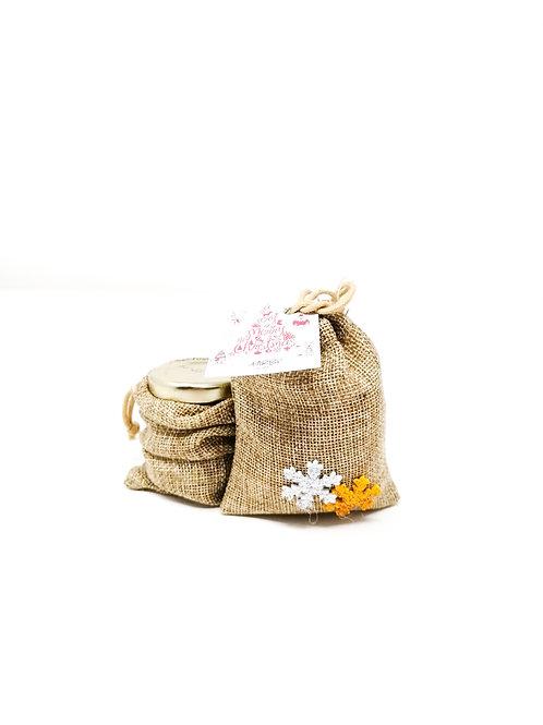 Polpa di mirtilli biologica 40g + Sacchetto in Juta Naturale