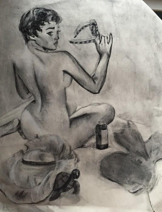 Charcoal & pencil study