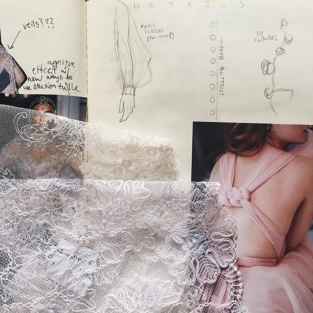 Bridal sketchbook page