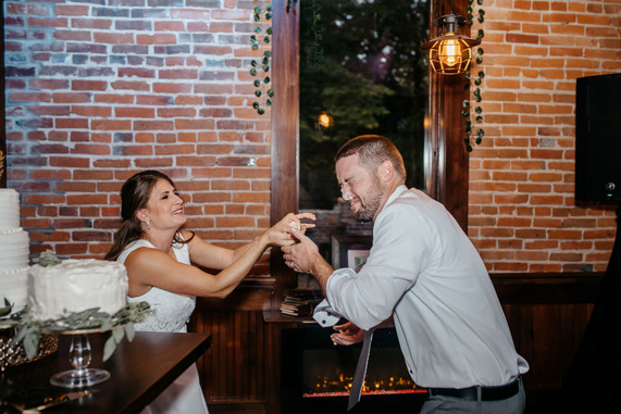Courtney&Daniel Cake silliness.JPG