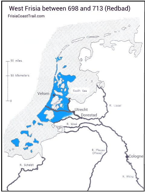 West Frisia between 698 and 713 (Redbad)