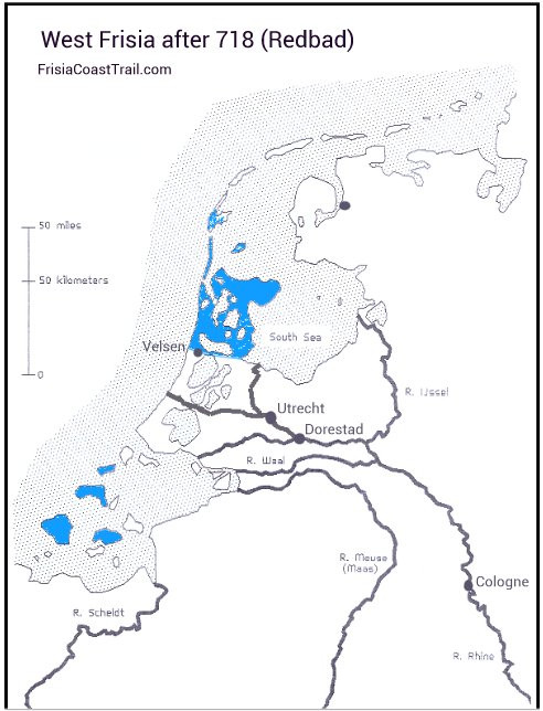 West Frisia after 718 (Redbad)