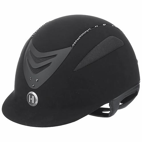 One K Defender Suede Bling Matte Helmet 468526 Black/Clear