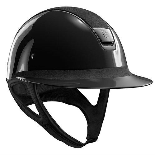 Samshield® Miss Glossy with Alcantara Top Helmet -Black