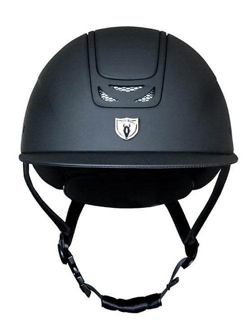 ROYAL TRADITIONAL BRIM Equestrian Helmet-Matt Black
